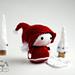 Small Santa Gnome. Tanoshi family Toy.  pattern