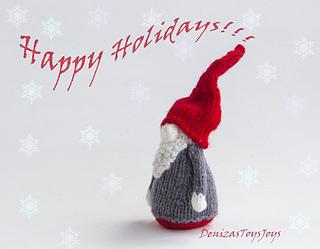 Christmas Gnomes Pattern.Small Christmas Gnome Pattern By Tatyana Korobkova