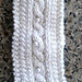 Winter Cabled Headband with Pearl Button Accents pattern