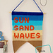 Sun Sand and Waves Wall Hanging pattern