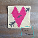 """8"""" Tapestry Heart Afghan Square pattern"""