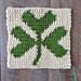 "8"" Tapestry Shamrock Afghan Square pattern"
