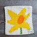 """8"""" Tapestry Daffodil Afghan Square pattern"""