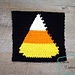 "8"" Tapestry Candy Corn Afghan Square pattern"