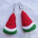 Wonderful Watermelon Earrings pattern