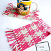 Pretty in Gingham Mug Rug pattern