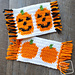Cute Pumpkins Mug Rugs pattern