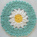 Daisy Dishcloth pattern