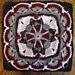 Iris Twins Afghan Block Square pattern