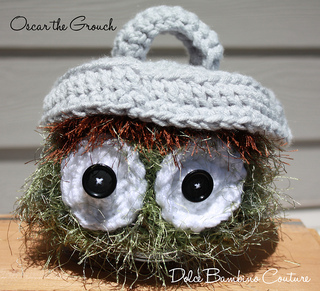 Oscar The Grouch Inspired Hat With Removeable Trash Can Lid Pattern By Michelle Nash