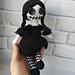 Gothic doll Wednesday pattern