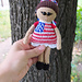 Patriotic doll 4th of July toy pattern