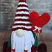 Plush Gnome Valentine day pattern