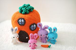 Amigurumi Bunny Family Crochet Free Pattern | Crochet rabbit free ... | 213x320