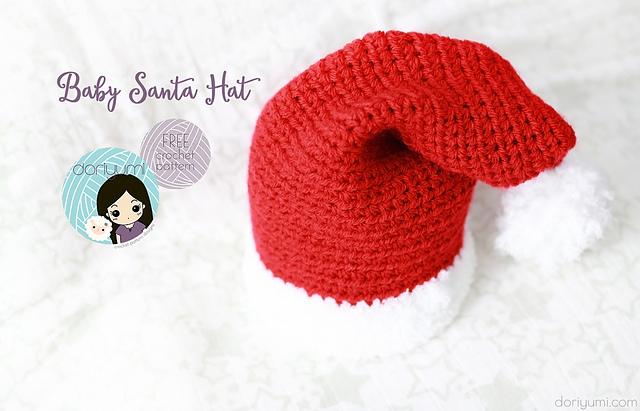 Chunky-'Knit' Santa Hat Crochet pattern by Crochet Bouquet ...   411x640