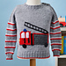 Call The Brigade Fire Engine Sweater pattern