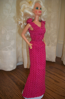 "Crochet Doll Dress /""Bridal Party/"" Annie Potter Pattern"
