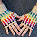 Rainbow mittens pattern