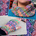 Mosaic cowl and mittens pattern