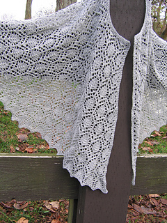 Dancing Leaves Lace Shawl