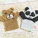 Bear and Panda Puppets pattern