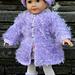 American Girl Doll Fur Coat pattern