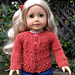 American Girl Doll Country Style Autumn Cardigan pattern