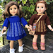 American Girl Doll Two Color Dress pattern