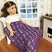Stripey Doll Blanket pattern