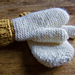 Easy Two Needles Mittens pattern