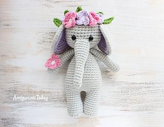 Crochet Pink Elephant Amigurumi Free Pattern   247x320