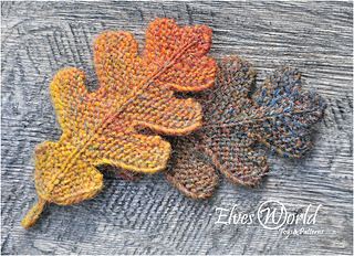 Oak leaf knitting pattern