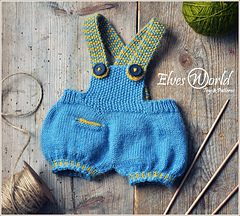 Teddy bear dungarees pattern