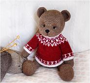 Christmas Teddy Bear Sweater