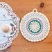 Simple Folk Circle Potholder pattern