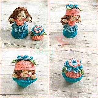 Crochet Pattern Lotus Amigurumi Doll - Flower Doll Lucia   Bonecas ...   320x320