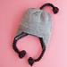 Garter Ridge Baby Earflap Hat pattern