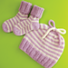 Striped Baby Hat & Booties pattern