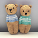 Izzy Teddy Bear Dolls pattern