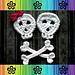 Skull and Crossbones Applique pattern