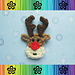 Rudy the Reindeer Applique pattern