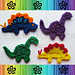 Bronto and Steggy the Dino-Rawrs Applique pattern