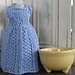 Let's Go to Paris Dress Dishcloth pattern