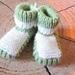 warm brioche  baby booties pattern