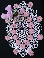 corded floral centerpiece