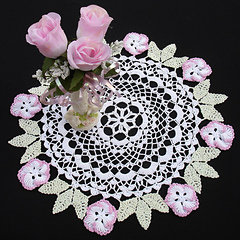 floral rice doily