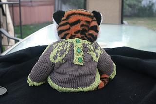 Lizard Swirl Baby Sweater - back