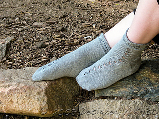 Guided By Love Socks, Top and Side Views
