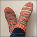 Raketsockor - virkade sockor pattern