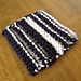 Striped knit and purl coaster pattern